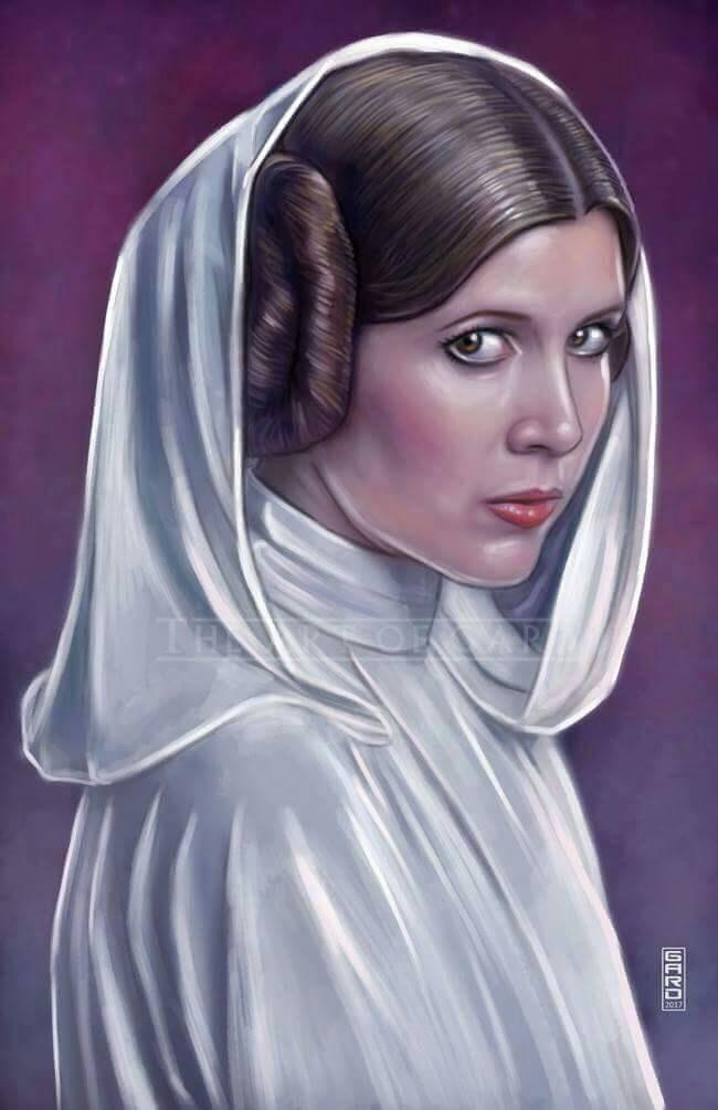 Princess Leia Organa from A New Hope High Quality Art ... How Old Was Princess Leia In A New Hope