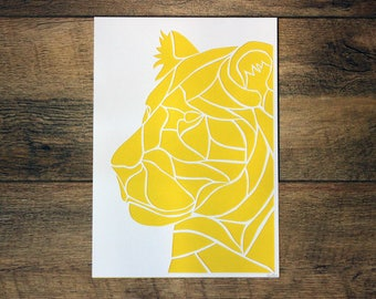 CLEARANCE - Lion Paper Cut