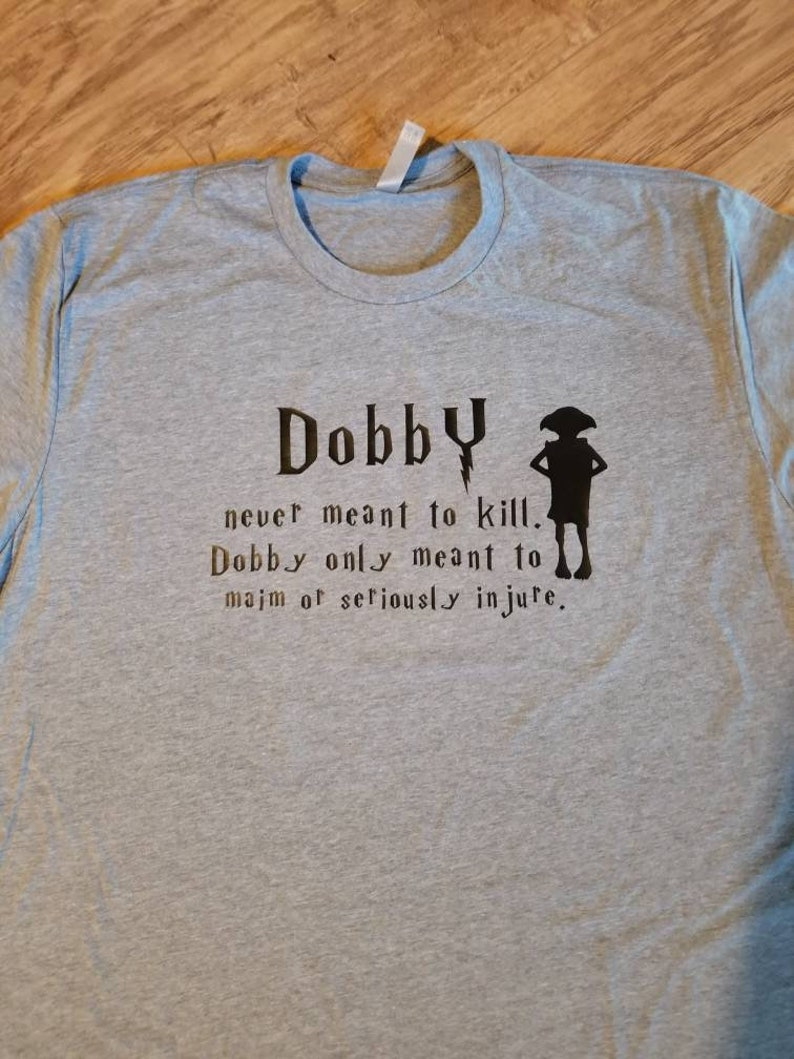 71c0c1dc Funny Harry Potter Inspired Shirt Dobby-FREE SHIPPING | Etsy