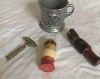 Awesome Shaving Collection, Razor, Brush, Mug