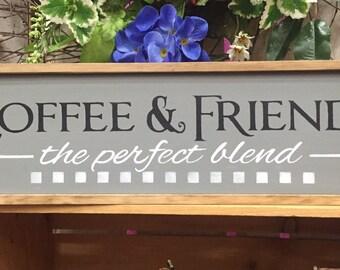 Coffee Decor. Coffee Sign. Kitchen Decor. Coffee and Friends. Friend Sign. Coffee Signs. Kitchen Coffee Sign. Coffee Bar Sign.