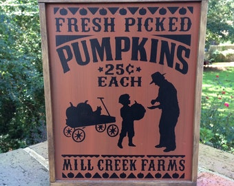 Fall Sign. Pumpkin Sign. Rustic Fall. Fall Decor. Fall Signs. Autumn Decor. Pumpkin Signs, Farmhouse Seasonal Decor, Fall Season Decor. Fall