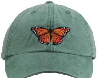 a7fda9eca44 Monarch Butterfly embroidered hat