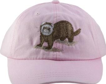 420cb895b0e22 Ferret embroidered hat