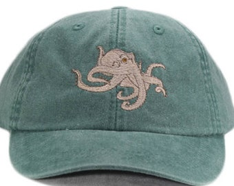 bf85819bc93 Octopus embroidered hat