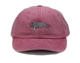 ca6b8b10867 Manatee embroidered hat