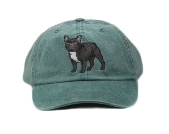 Black French Bulldog embroidered hat 393fceb0d51