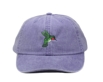 e193c37f9cf61 Hummingbird embroidered hat