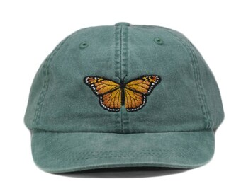Monarch Butterfly embroidered hat 9da192465c7