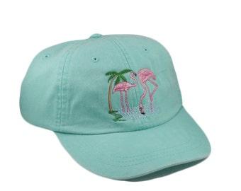 Flamingo embroidered hat 97f4eb58c64
