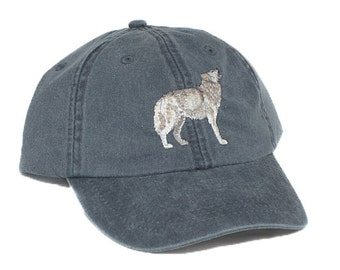 2c1f69371133f Wolf embroidered hat