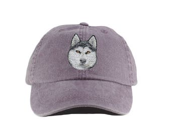 48dcde9156953 Siberian Husky embroidered hat