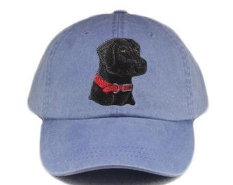 Black Labrador retriever embroidered hat bd96be3adf3