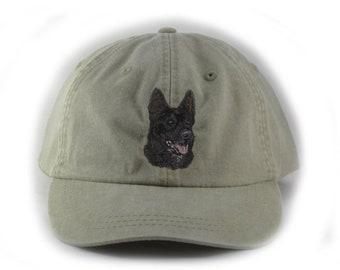 169c000256b Black German Shepherd embroidered hat