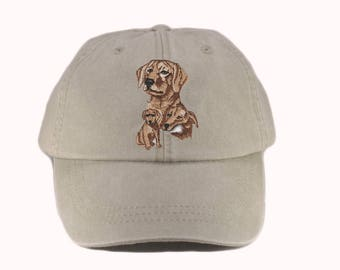 c33d7aec729 Yellow Lab embroidered patch hat