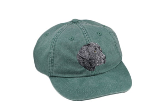 Black Labrador retriever embroidered hat baseball cap dog  bf8c2c9331b