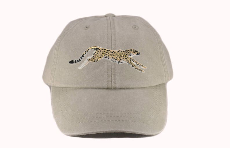 b41d54d6e782f Cheetah embroidered hat baseball cap dad hat mom cap