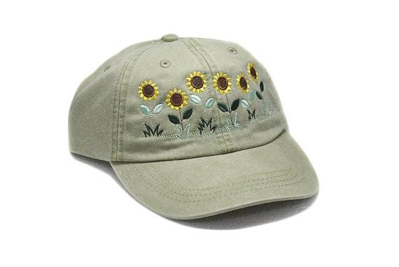 Sunflowers hat baseball cap embroidered hat flower | Etsy