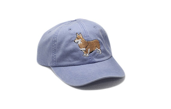 Corgi embroidered hat baseball cap dog lover gift pet mom  249759dc10c