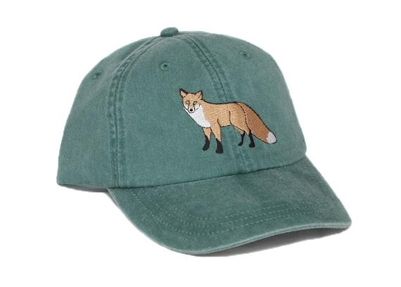 Fox embroidered hat baseball cap red fox cap fox hat dad  f152ccedec5