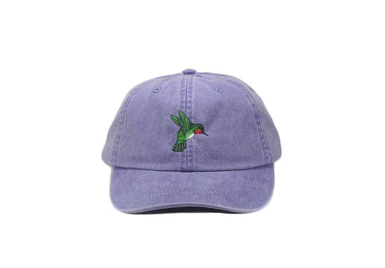 fb8f2f062ba Hummingbird embroidered hat baseball cap dad hat mom cap