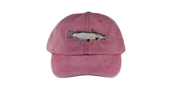 Channel Catfish  Embroidery Embroidered Adjustable Hat Baseball Cap