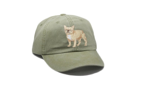 671b01beefd French Bulldog embroidered hat baseball cap dog lover gift