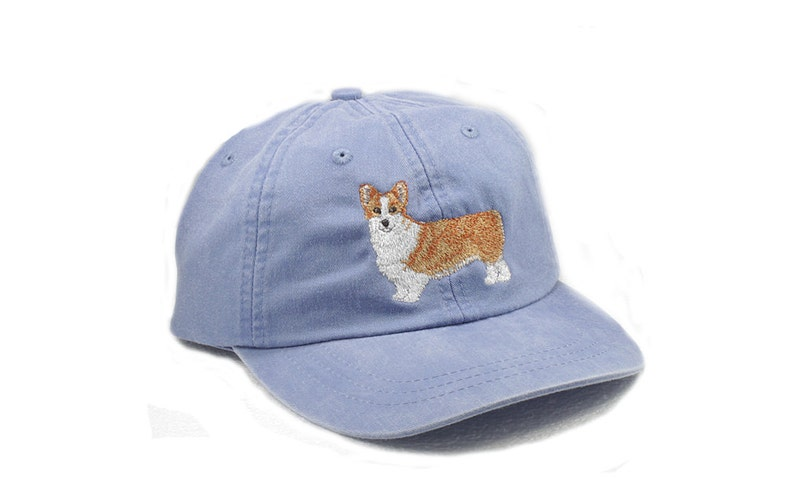 97528b0015f Corgi embroidered hat baseball cap pet mom cap dad hat