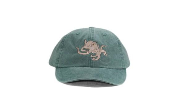 Octopus embroidered hat baseball cap cap dad hat mom cap  9711717bc90
