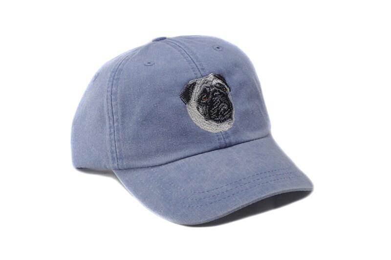 Pug embroidered hat baseball cap dog lover gift pet mom  07cb3d1dc2d