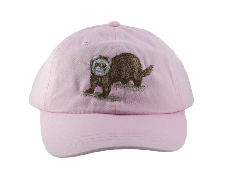 0f804e4d84e52 Ferret embroidered hat baseball cap mom cap dat hat pet
