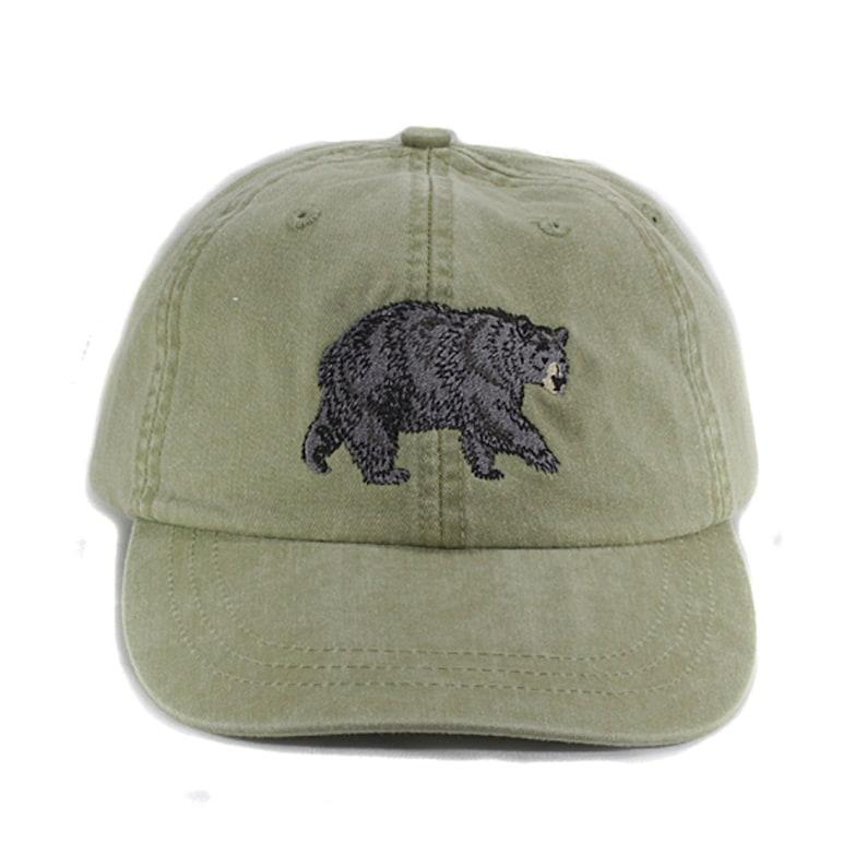 BLACK BEAR WILDLIFE HAT WOMEN MEN BASEBALL CAP Price Embroidery Apparel