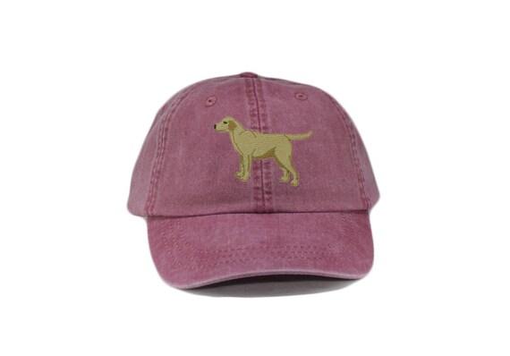 2dedac6efed Yellow labrador retriever embroidered hat baseball cap dog