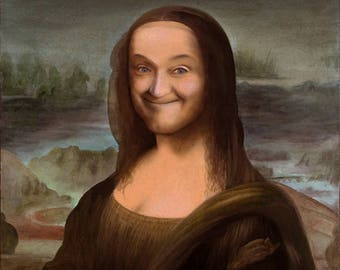 Stan Laurel as Mona Lisa art print