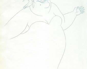 THE LITTLE MERMAID original Ursula production drawing