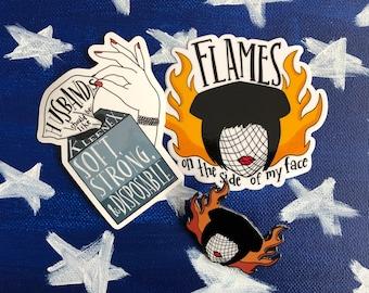 Madeline Kahn Mrs. White Clue Enamel Pin + Stickers Fan Pack!