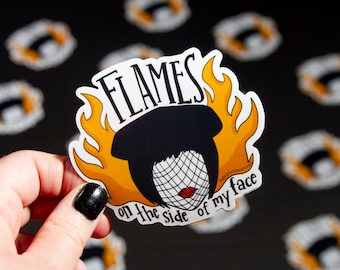 Mrs. White Madeline Kahn Clue Flames Sticker
