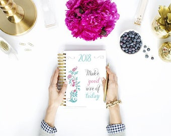 2018 Blog Planner kit - Bundle - Flower Blog Media Kit - Blogger - Freelancer - Organized Blogging - Instant Download - Printable PDF