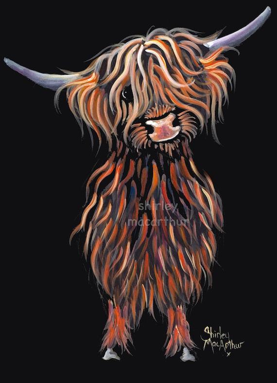 HIGHLAND CoW PRiNTS WaLL ART of Original Painting SuGaR LuMP2 SHIRLEY MACARTHUR