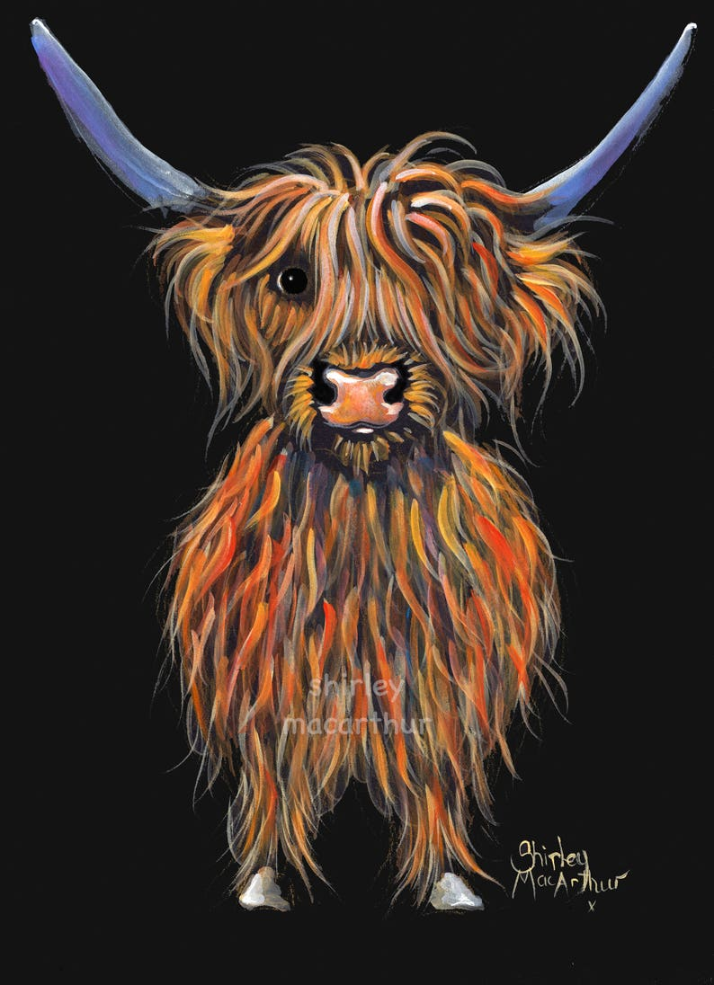 Antiquitäten & Kunst HIGHLAND COW PRINTS of Original Painting ' THE LOVELIES ' by SHIRLEY MACARTHUR