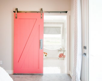Industrial/Classic Sliding Barn Door Closet Hardware