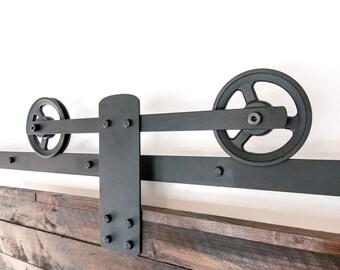 Bon Heavy Duty Industrial Single Strap Sliding Barn Door Closet Hardware