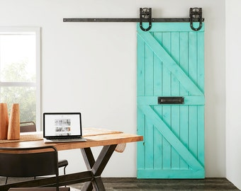Custom Built Rustic Double Z Sliding Barn Farm Door