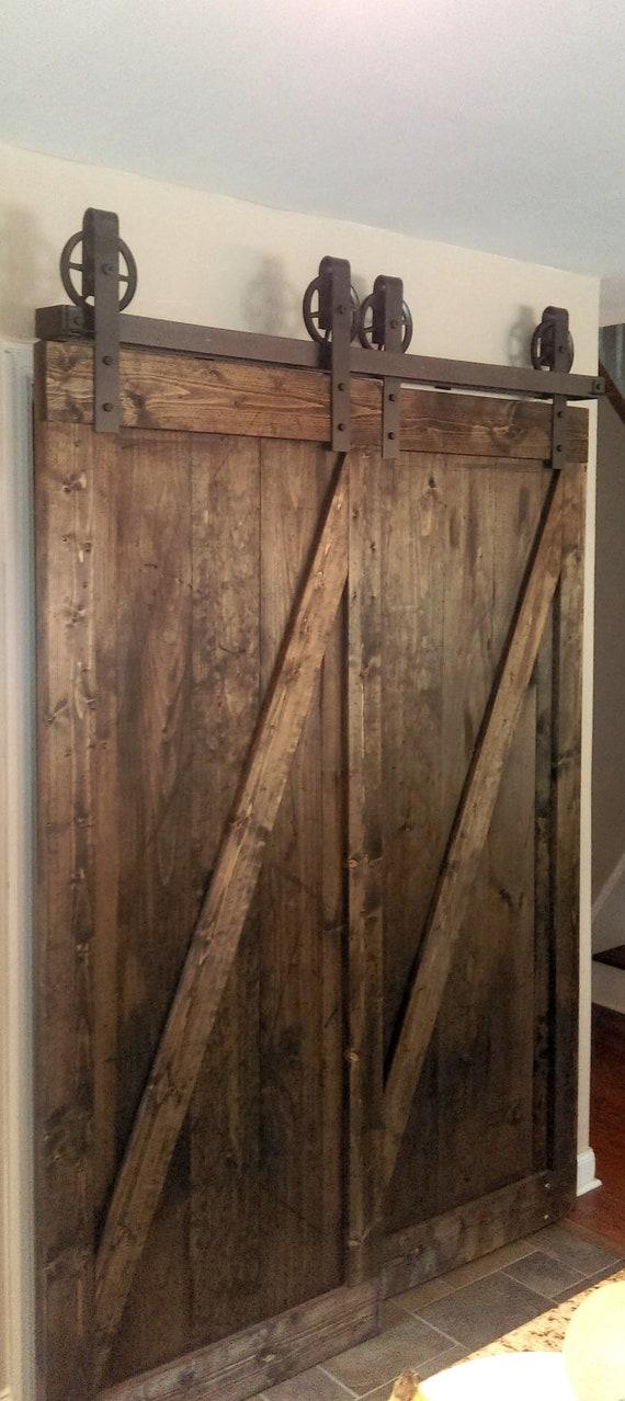 Bypass Vintage Spoked Sliding Barn Door Closet Hardware Etsy