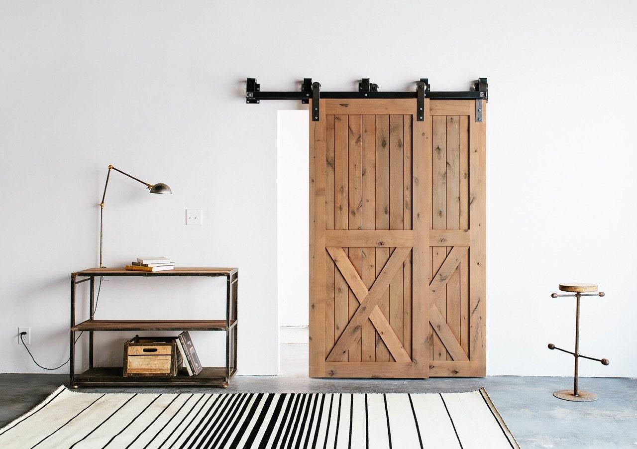 Bypass Industrialclassic Front Strap Sliding Barn Door Closet Etsy