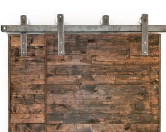 Bypass Industrial/Classic Sliding Barn Door Closet Hardware