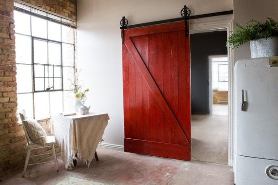 Vintage Industrial Spoked European Sliding Barn Door Closet Etsy