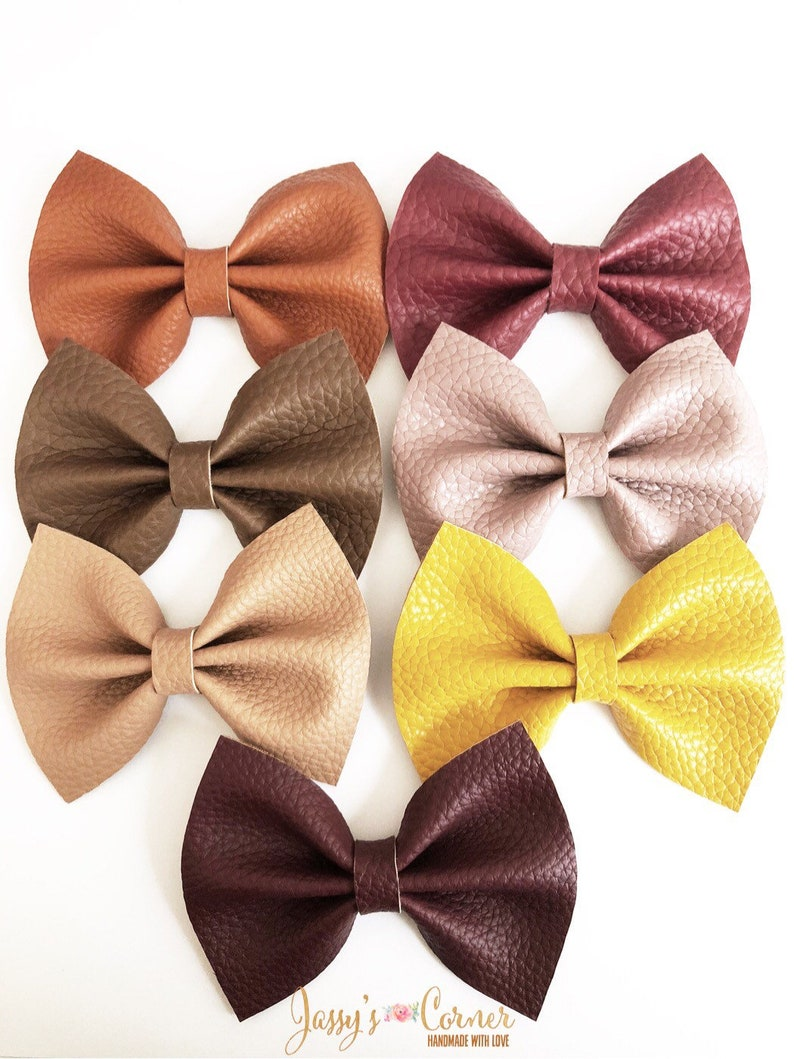 Fall Clips Fall Faux Leather Hairclips Fall Faux Leather Hairbows Fall Faux Leather Bows Fall Bows Fall Faux Leather Clips