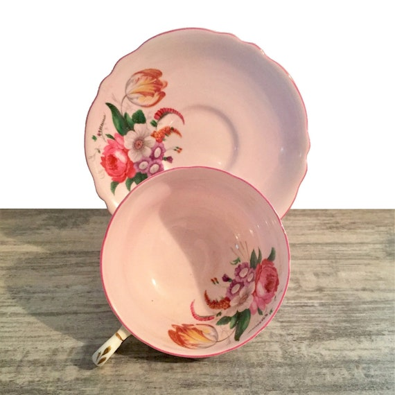 Pink Paragon Tea Cup And Saucer Queen Mary Double Crown
