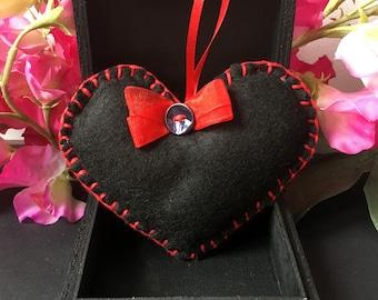 Hand stitched felt Lavender heart